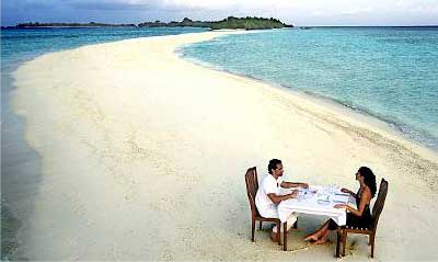 Private beach dining